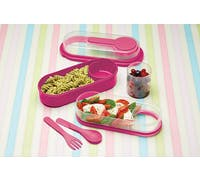 KitchenCraft Pink Lunch & Snack Box