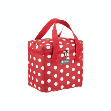 KitchenCraft Tall Red Polka Lunch / Snack Cool Bag