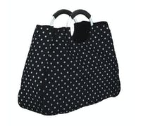 KitchenCraft 17 Litre Reusable Black Polka Dot Shopping Bag