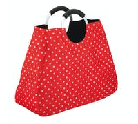 KitchenCraft 17 Litre Reusable Red Polka Dot Shopping Bag