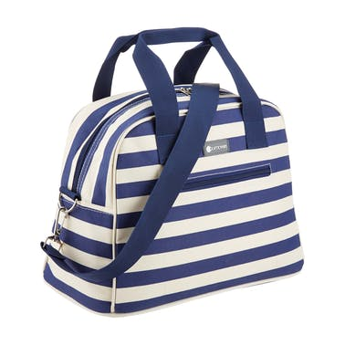 KitchenCraft Lulworth 11.5 Litre Blue Stripe Holdall Style Cool Bag