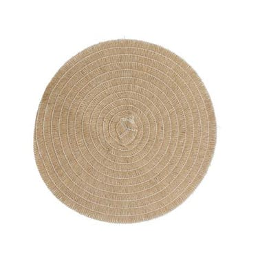 Creative Tops Set of 4 Jute Placemats, Natural Hessian Round Table Mats, 41cm