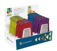 Colourworks Display of 12 4 in 1 Triangular Box Graters