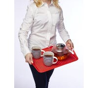Colourworks Red Anti-Slip Serving Tray