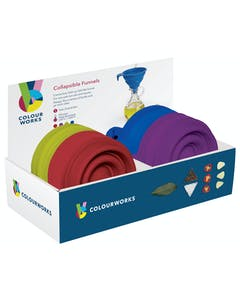 Photo of Colourworks Display of 24 Silicone Collapsible Funnels