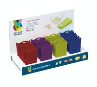 Colourworks Display of 24 Assorted Coloured Garlic Shredders