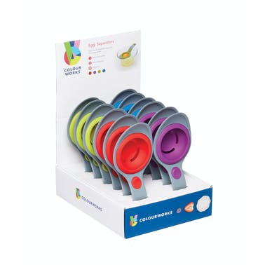 Colourworks Display of 12 Silicone Egg Separators