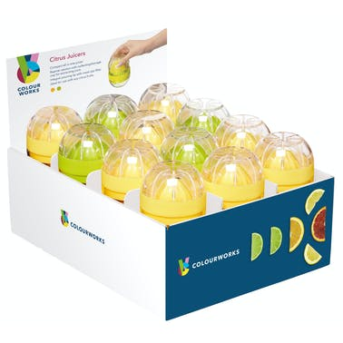 Colourworks Display of 24 Mini Citrus Juicers