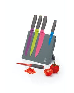 Photo of Colourworks Brights Five Piece Knife Set with Magnetic Storage Block