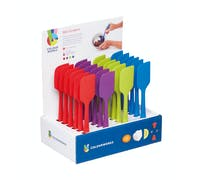 Colourworks Brights Display of 24 Assorted Coloured Silicone Mini Spoon Spatulas