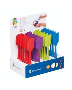 Photo of Colourworks Brights Display of 24 Assorted Coloured Silicone Mini Spoon Spatulas