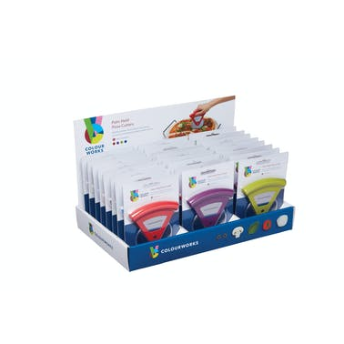 Colourworks Display of 24 Pizza Cutters