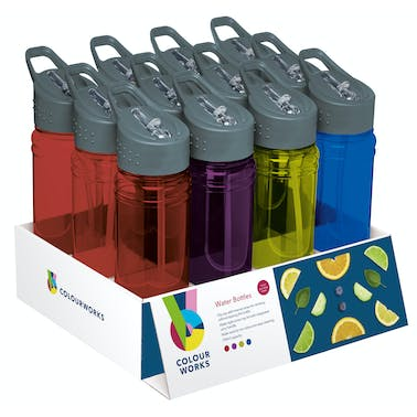 Colourworks Display of 12 Sports / Water Bottle