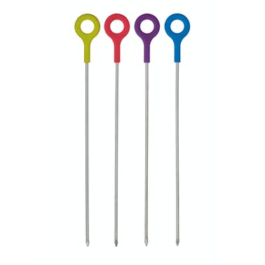 Colourworks Set of 4 Assorted Silicone Handled Skewers