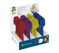 Colourworks Display of 24 Assorted Coloured Mini Spoon Spatulas