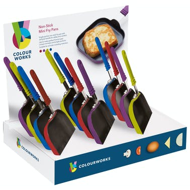Colourworks 14.5cm Mini Non-Stick Square Frypans - Display of 12