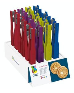 Photo of Colourworks Display of 24 Assorted Coloured Toaster Tongs