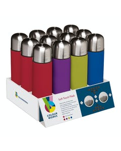 Photo of Colourworks Display of 12 Stainless Steel Vacuum Flasks