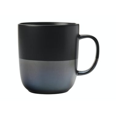Maxwell & Williams Lune 400ml Mug Black Lustre