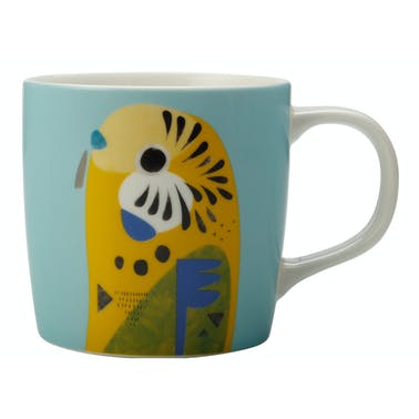 Maxwell & Williams Pete Cromer 375ml Mug Budgerigar