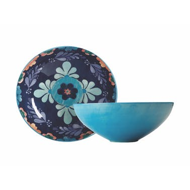 Maxwell & Williams Majolica 31cm Round Blue Bowl