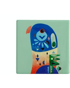 Photo of Maxwell & Williams Pete Cromer Ceramic Square 9.5cm Coaster Lorikeet