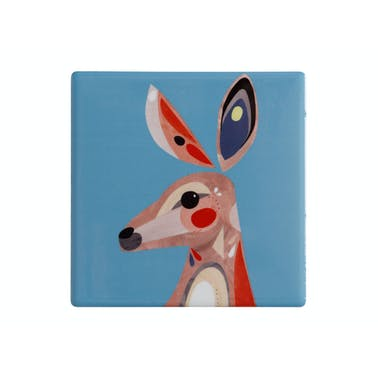 Maxwell & Williams Pete Cromer Ceramic Square 9.5cm Coaster Kangaburra