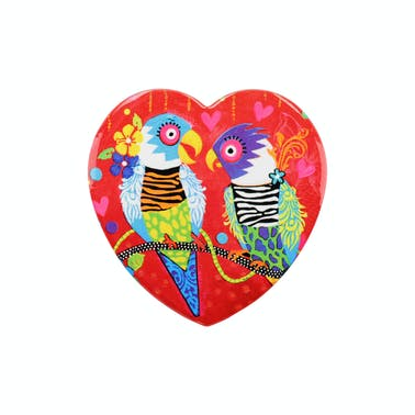 Maxwell & Williams Love Hearts Ceramic 10cm Tiger Tiger Square Coaster