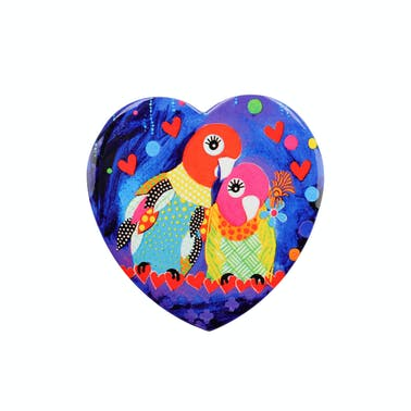 Maxwell & Williams Love Hearts Ceramic 10cm Love Birds Square Coaster