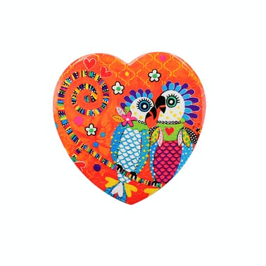 Maxwell & Williams Love Hearts Ceramic 10cm Fan Fan Club Square Coaster