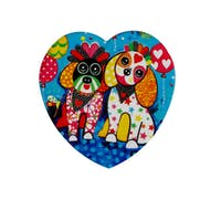 Maxwell & Williams Love Hearts Ceramic 10cm Oodles of Love Square Coaster