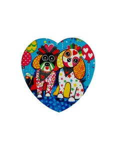 Photo of Maxwell & Williams Love Hearts Ceramic 10cm Oodles of Love Square Coaster