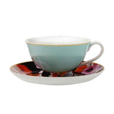 Maxwell & Williams Cashmere Bloems Tea Cup And Saucer Blue