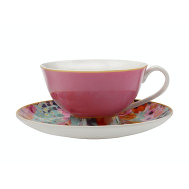 Maxwell & Williams Cashmere Bloems Tea Cup And Saucer Pink