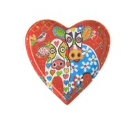Maxwell & Williams Love Hearts 15.5cm Happy Moo Day Heart Plate