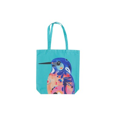 Maxwell & Williams Pete Cromer Azure KingFisher Tote Bag