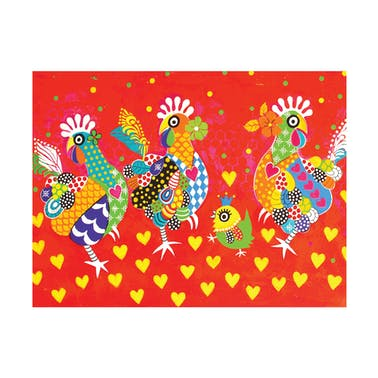 Maxwell & Williams Love Hearts Chicken Dance Tea Towel