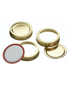 Photo of Home Made Box of 12 Screw Band Preserving Jar Lids