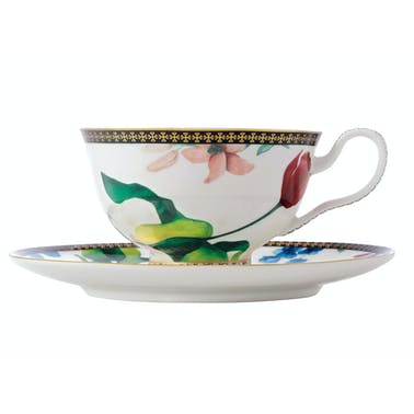 Maxwell & Williams Tea's & C's Contessa 200ml Footed Cup And Saucer White