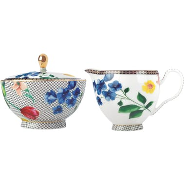 Maxwell & Williams Tea's & C's Contessa Sugar And Creamer Set White