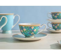 Maxwell & Williams Teas & C's Kasbah Mint 200ml Footed Cup and Saucer