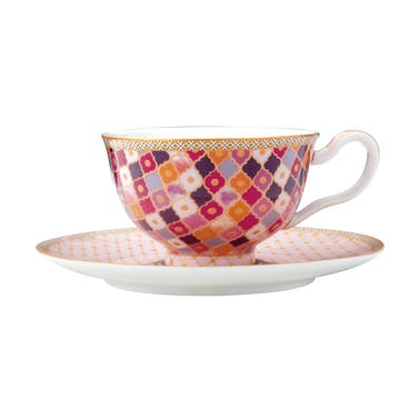 Maxwell & Williams Teas & C's Kasbah Rose 200ml Footed Cup and SauCeramic