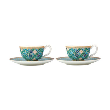 Maxwell & Williams Teas & C's Kasbah Mint 85ml Espresso Cup and Saucer Set