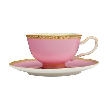 Maxwell & Williams Teas & C's Kasbah Hot Pink 200ml Footed Cup and Saucer