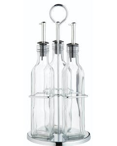 Photo of KitchenCraft World of Flavours Italian 3 Bottle Glass Oil and Vinegar Set