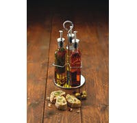 KitchenCraft World of Flavours Italian 3 Bottle Glass Oil and Vinegar Set