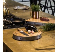 Industrial Kitchen Handmade Round Wooden Butcher's Block Chopping Board