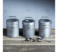Industrial Kitchen Vintage-Style Metal Coffee Canister