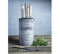 Industrial Kitchen 5-Piece Stainless Steel Knife Set and Knife Block