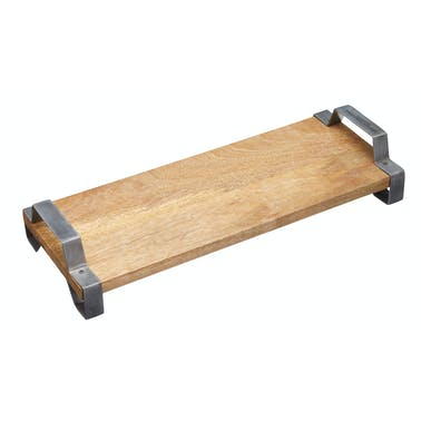 Industrial Kitchen 40 x 15 cm Mango Wood Serving Tray